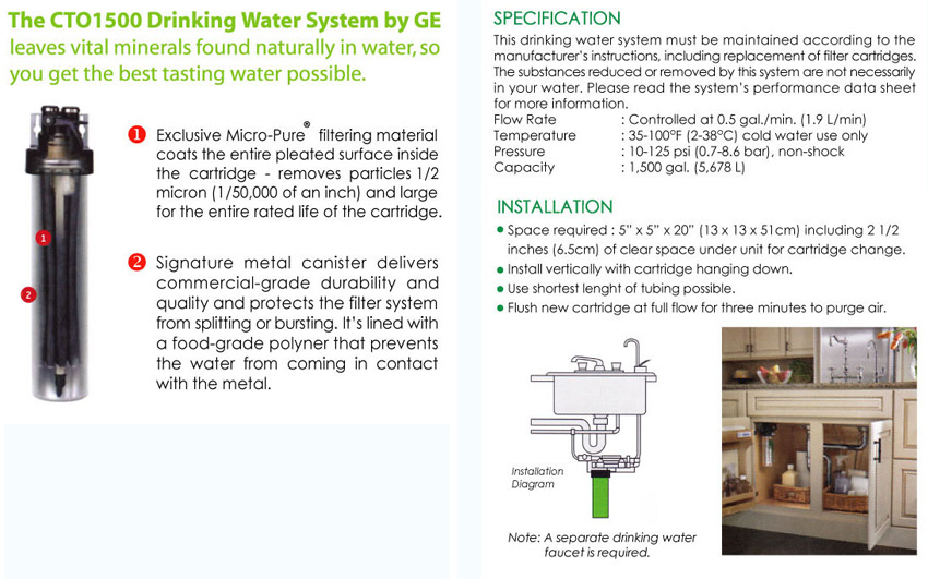 Ge Drinking Water System